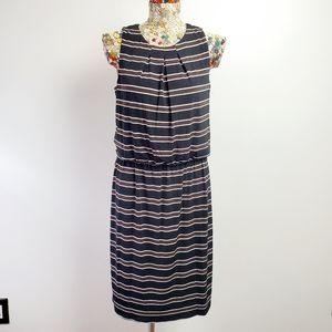 White house size 12 stripe dress nwt